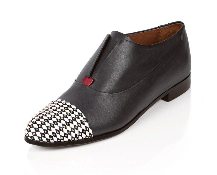 Mastra Ma' - oxford shoe women grey - Gaia with studs