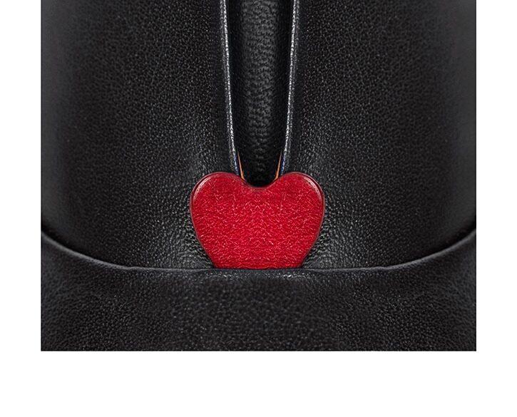 Mastra Ma' - oxford shoe women black - Gaia red heart