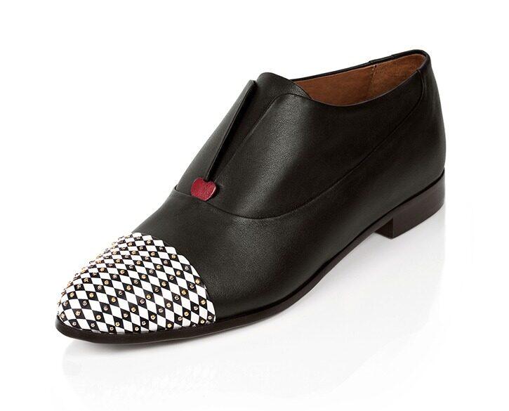 Mastra Ma' - oxford shoe women black - Gaia with sruds
