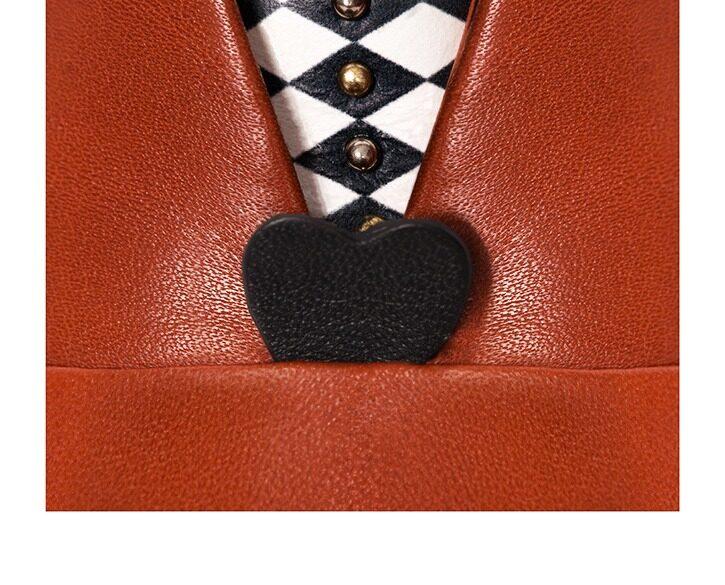 Mastra Ma' - Rosalba oxford shoe in burnt orange with heart, memory foam and anti-slip sole