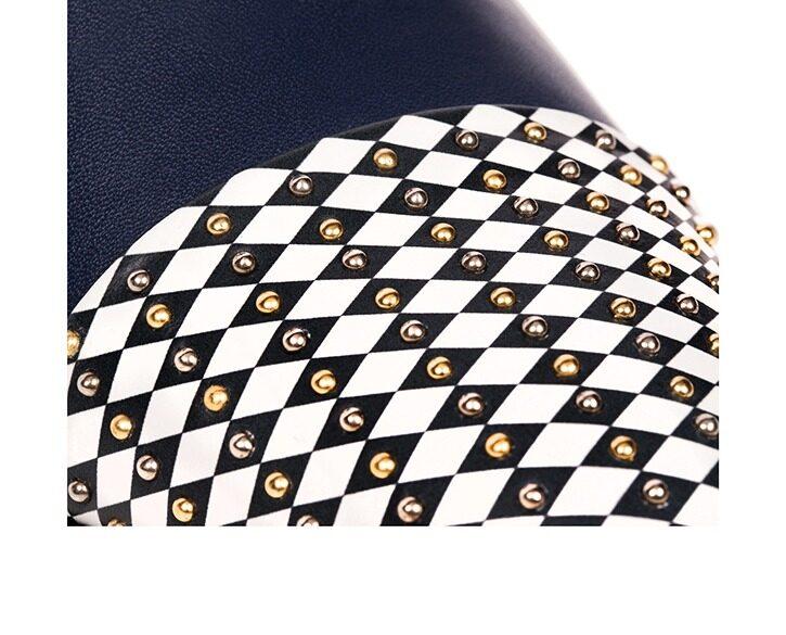 Mastra Ma' - oxford shoe women blue - Gaia black and white point