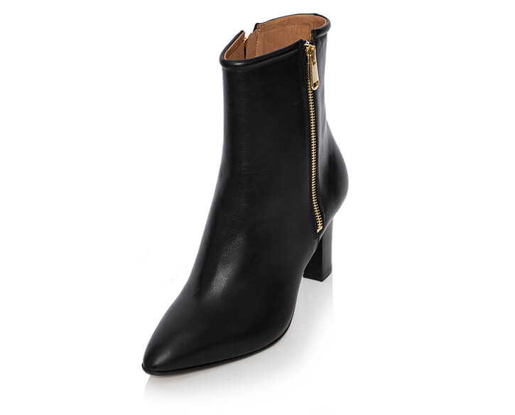 mastra ma' shoes - Flavia black ankle boot with platform and anti-slip sole