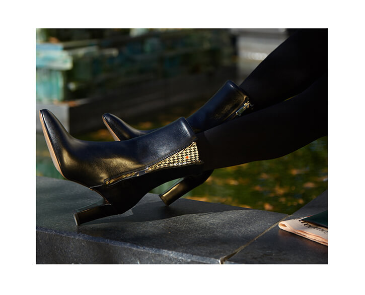 Black ankle boot for office