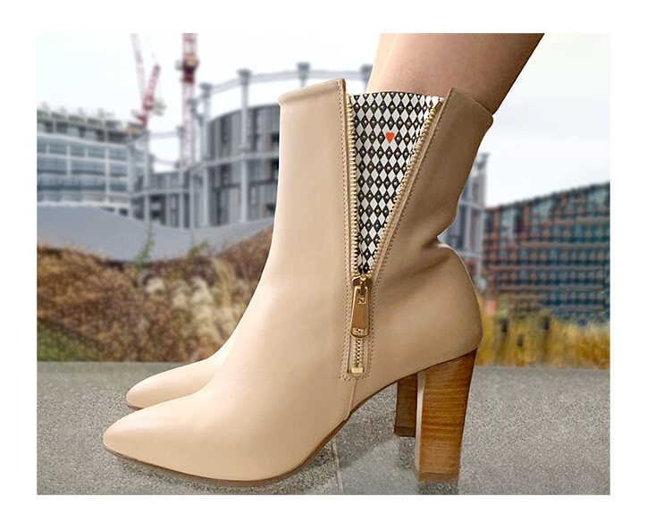 Beige Ankle Boots Comfortable London Gasometer- Mastra Ma' Luxury Shoes