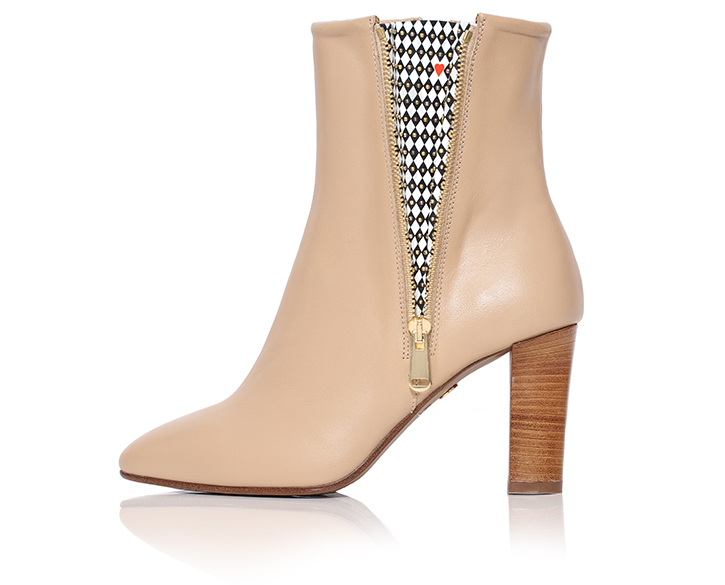 Flavia - Ankle Boot For Women In Nude Beige - Mastra Ma' Luxury Shoes